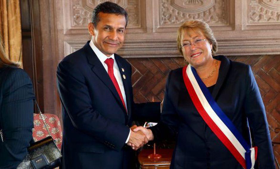 Ollanta Humala y Michelle Bachellet sostuvieron primer encuentro bilateral. (Presidencia Perú)