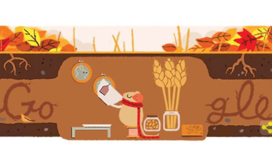 Así celebró Google el inicio del otoño. (Google)