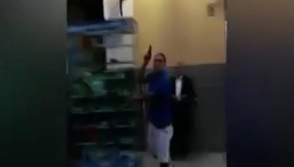 Policía logró detener al sujeto luego de efectuar disparos al aire (Captura)