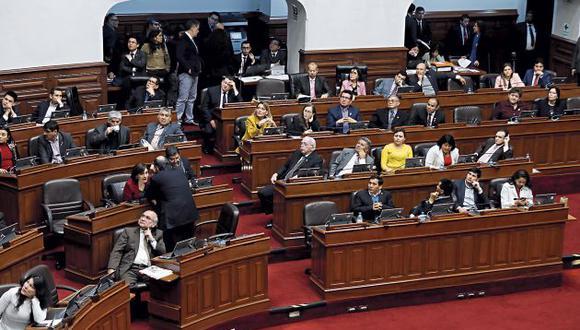 La bancada fujimorista sentirá disminuida su hegemonía en el Legislativo. (GEC)