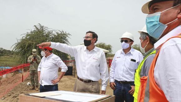 Presidente Vizcarra supervisó labores en el puente Grau así como el sector 3 de la vía que une Lambayeque y Piura y el paso a desnivel de la avenida Grau.