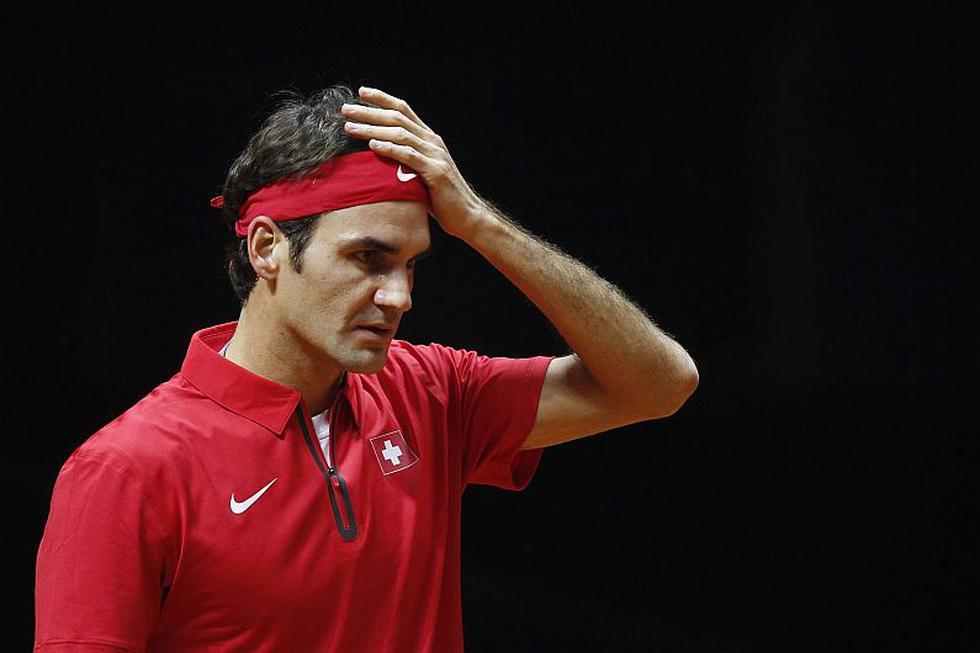 Roger Federer perdió por 3-0 ante Gaël Monfils por la Copa Davis. (EFE)