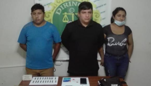La Libertad: Detienen a tres personas con 46 proyectiles de bala y son investigadas por presunta venta ilegal de municiones. (Foto PNP)