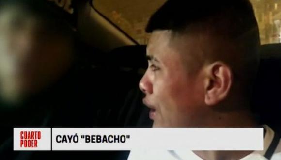 'Bebacho' lloró para tratar de engañar a los policías que lo capturaron. (Cuarto Poder).