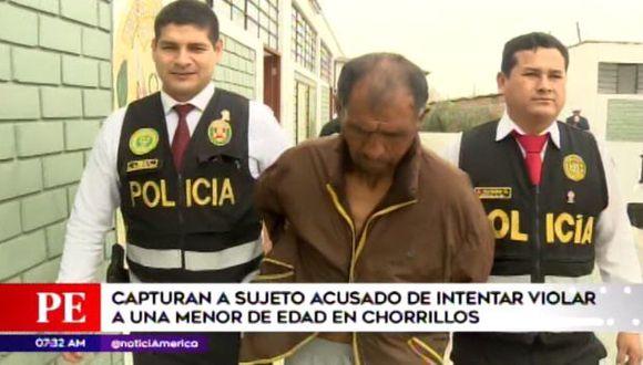 Los vecinos detuvieron al sujeto tras escuchar los gritos de la víctima en Chorrillos. (Foto: América TV)
