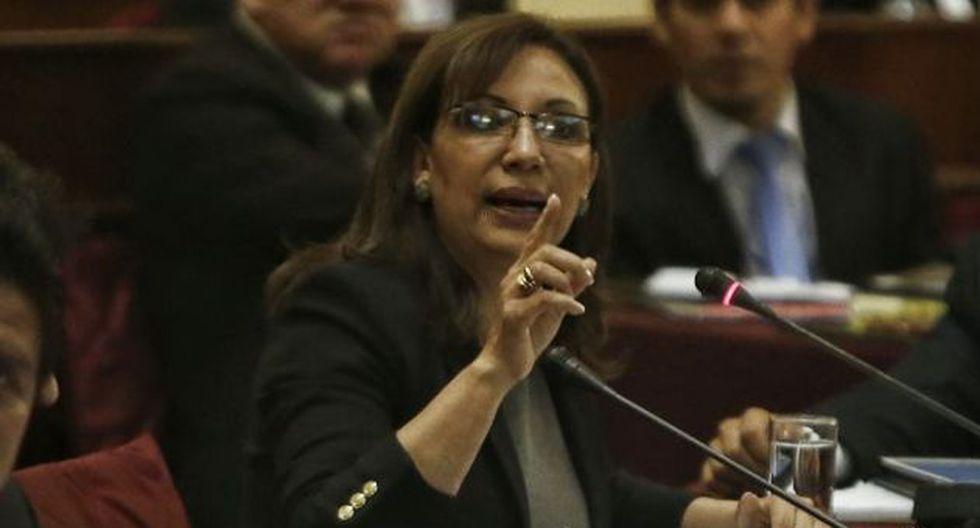 Julia Príncipe se presentó ante la Comisión de Fiscalización del Congreso. (Renzo Salazar)
