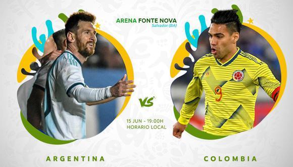 Argentina vs. Colombia abren el grupo B de la Copa América. (Foto: Copa América)