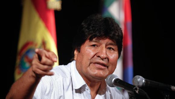 """El expresidente de Bolivia Evo Morales dijo que después de este domingo """"surgirá la América Plurinacional"""" . (EFE/Juan Ignacio Roncoroni)."""
