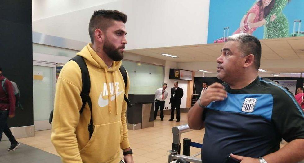 Rubert Quijada arribó a Perú y sería anunciado por como refuerzo de Alianza Lima. (Foto: @MarioREscobar)