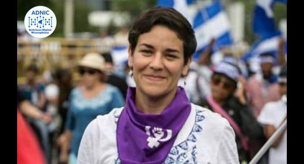 Defensoras de los derechos Humanos fueron detenidas por pegar afiches contra el régimen de Daniel Ortega. (Foto: ADNIC - Activismo Digital Nicaragüense)