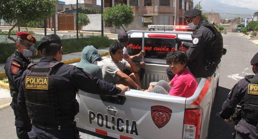 Arequipa: 70 personas fueron detenidas durante inamovilidad absoluta.