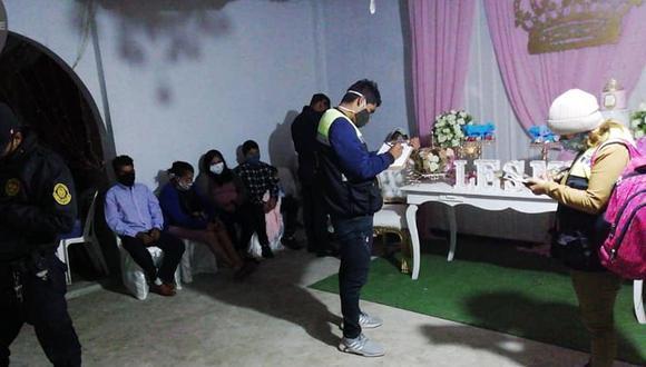 Piura: 25 personas fueron intervenidas cuando festejaban un quinceañero (Foto: Municipalidad de Castilla).