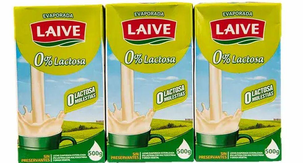 """Los productos examinados fueron las mezclas lácteas """"Evaporada Laive 0% Lactosa"""" y """"Evaporada Laive Niños"""". (Foto: Captura)"""
