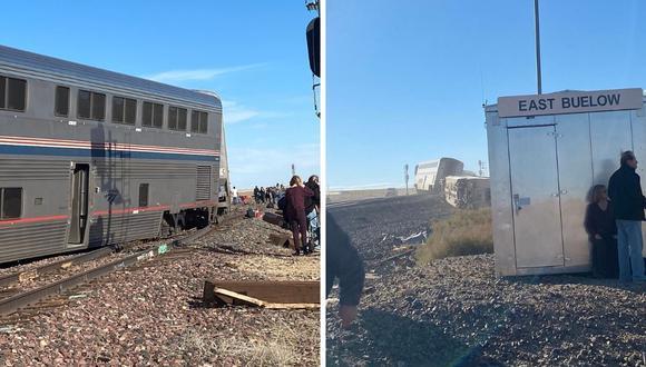 El tren Empire Builder 7/27 descarriló cinco vagones cerca a Joplin, en Montana. (Foto: Twitter @_alpaljpeg)