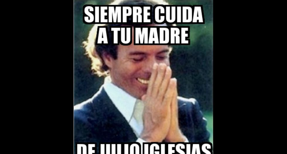 Muchos recomiendan 'cuidar' a sus madres del efecto seductor de Julio Iglesias. Probablemente, más de una caería rendida a sus pies. (Fuente: Memesgenerator.es)