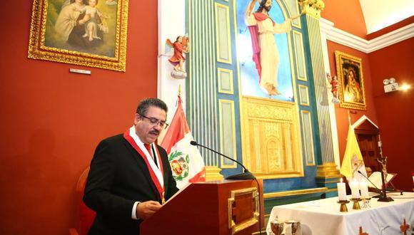 Manuel Merino de Lama se refirió a la actual crisis política en la misa por el aniversario del Poder Legislativo. (Foto: Congreso)