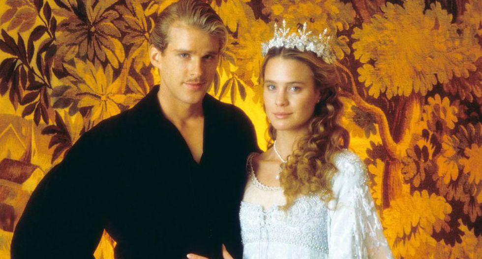 Robin Wright participó en el filme de culto de fantasía y amor 'The Princess Bride'.
