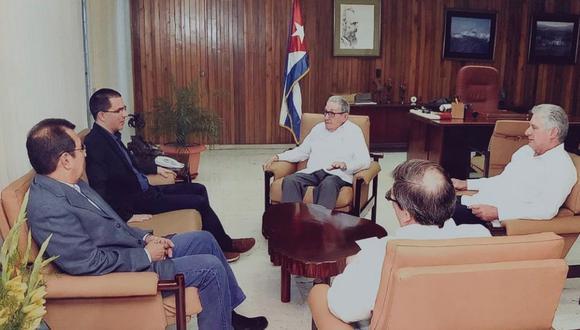 Venezuela es el principal aliado político y económico de Cuba, cuyo Gobierno respalda al de Nicolás Maduro. (Foto: Twitter - Jorge Arreaza)
