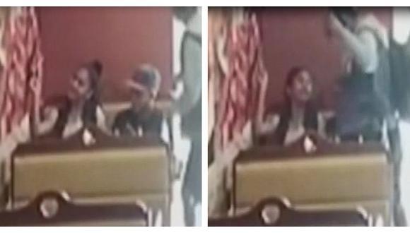 """Cámaras de seguridad registraron violento robo a una pollería """"El Rey"""" en San Juan de Lurigancho (Captura: América Noticias)"""