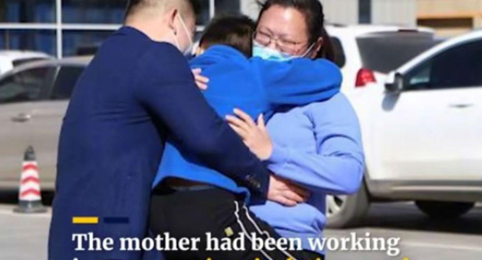 La madre estuvo aislada de su familia pues trabajó en un hospital atendiendo enfermos por covid-19. | Foto: Captura YouTube