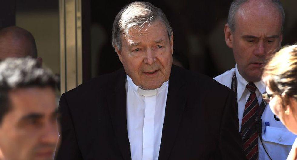 Lo que ha trascendido es que George Pell se declaró no culpable de los cargos presentados en su contra, pero sus argumentos no convencieron al jurado. (Foto: AFP)