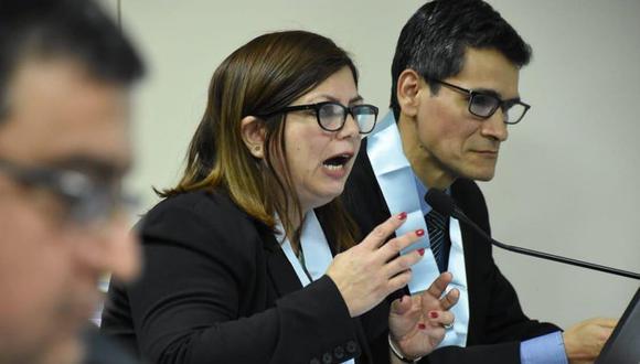 La procuradora adjunta Marilyn Vega Caro sustento el requerimiento para incorporar a OAS como tercera civil responsable. (Foto: Poder Judicial)