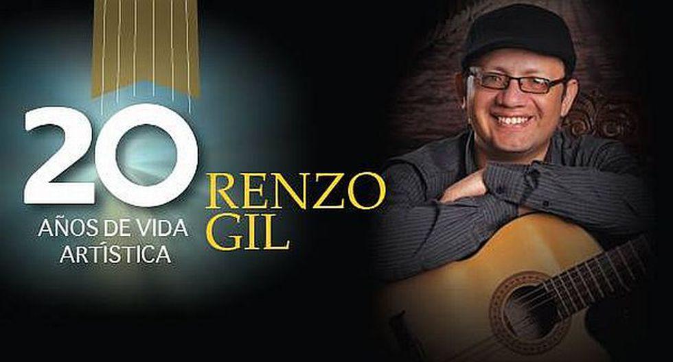 Renzo Gil hará un repaso por sus 20 años de trayectoria artística con un gran concierto. (Difusión)
