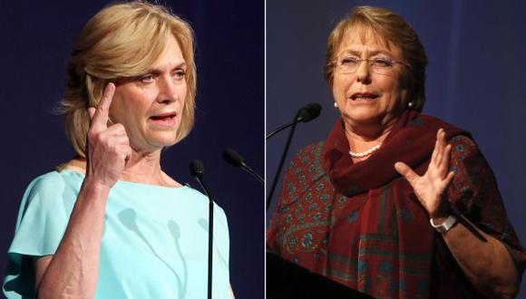 Matthei y Bachelet son hijas de generales de la Fuerza Aérea.  (EFE)
