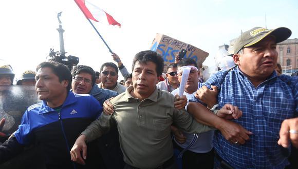 Pedro Castillo encabezó huelga de maestros contra la reforma magisterial en 2017. (GEC)