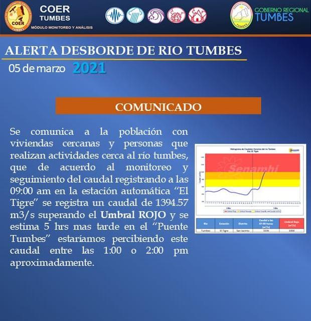 Comunicado COER Tumbes