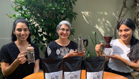 Madre e hijas están detrás de esta historia de amor por el café. (Foto: Esther Vargas)