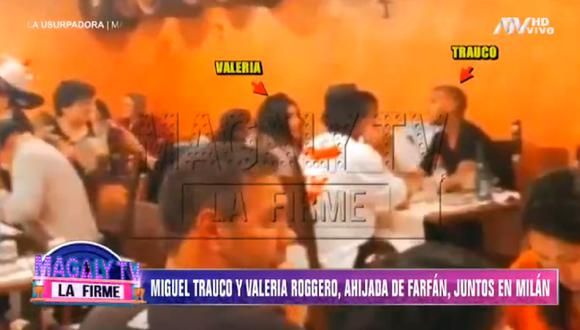 """Miguel Trauco fue captado junto a Valeria Roggero por las cámaras de """"Magaly TV: La Firme"""". (Foto: Captura ATV)"""