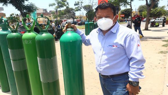 José Luis Barsallo reveló que sus trabajadores y él están recibiendo diversas amenazas por vender el oxígeno a precio justo. (Foto: Gonzalo Córdova / @photo.gec)