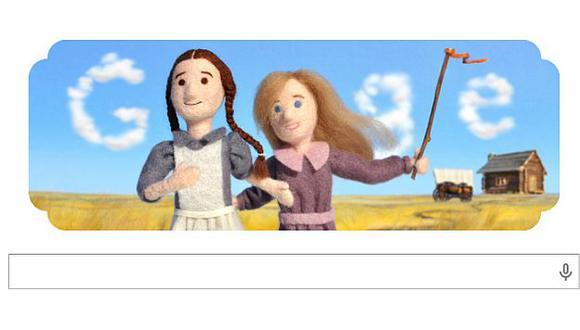 Doodle de homenaje por el nacimiento de la escritora Laura Ingalls. (Google)