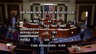 La Cámara de Representantes de EE.UU obtiene votos necesarios para acusar a Donald Trump