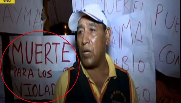 """""""Estos tipos no merecen vivir. ¡El pueblo va a hacer justicia!"""", dijo una de las vecinas de San Juan de Lurigancho. (RPP)"""