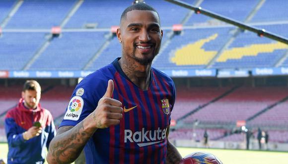 Kevin Prince Boateng aseguró que trabajará para ser titular en el Barcelona. (Foto: AFP)