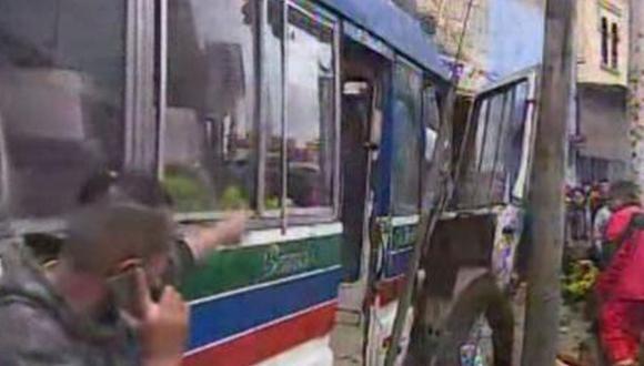 Gerencia de Transporte Urbano (GTU), suspendió la autorización de la Empresa de Transporte Especial Solidaridad S.A. (Ruta 8601). (Foto: América TV)