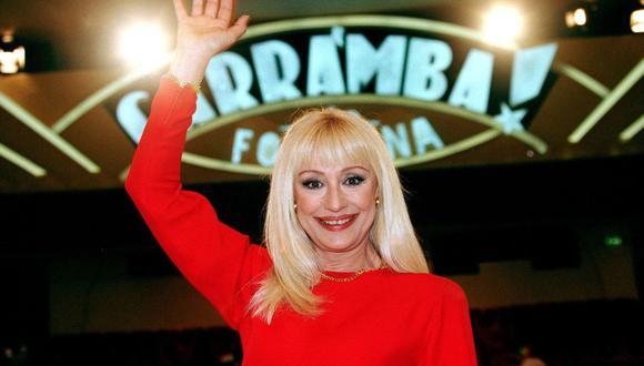 La polifacética Raffaella Carrà, cantante, actriz y presentadora de televisión, también tenía una pasión por el fútbol (Fuente: CLAUDIO ONORATI/EFE)