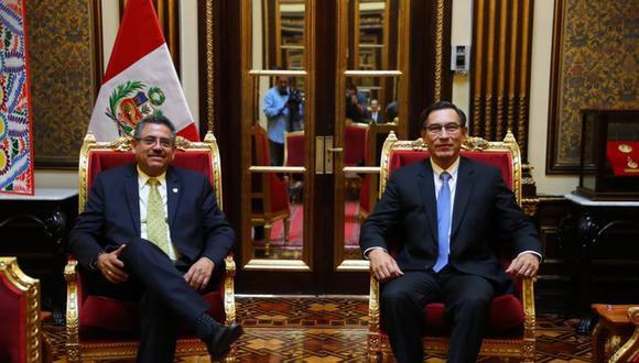 Merino se mostró criticó al Gobierno de Martín Vizcarra por su accionar en el traslado de miles de ciudadanos a sus provincias de origen. (Foto: Presidencia de la República)
