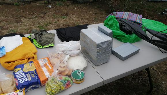 Ayacucho: intervienen a dos personas con aproximadamente 7 kilos de alcaloide de cocaína en el Vraem (Foto: CCFFAA).