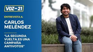 """Carlos Meléndez: """"La segunda vuelta es una campaña antivotos"""""""