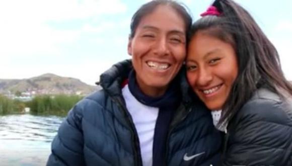Arizapana comparte tiernos momentos con una de sus hijas.  (Foto: Facebook Instituto Peruano del Deporte)
