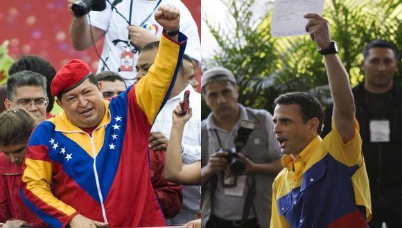 SE LE CORRE. Chávez no quiere confrontar ideas con Capriles en favor del futuro de los venezolanos. (AP)