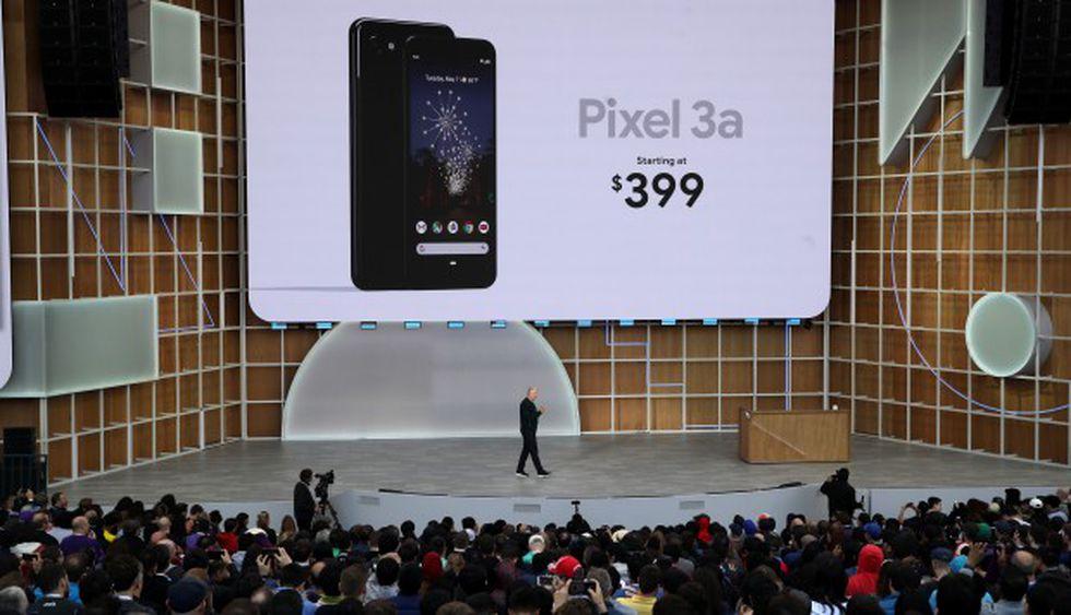 El vicepresidente ejecutivo de dispositivos y servicios de Google, Rick Osterloh, anunció el nuevo Google Pixel 3A durante el discurso de apertura en la conferencia de Google I / O. (Foto: AFP)