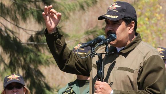 """Nicolás Maduro ordena capturar a cualquier """"traidor"""" en la Fuerza Armada. (AFP)"""