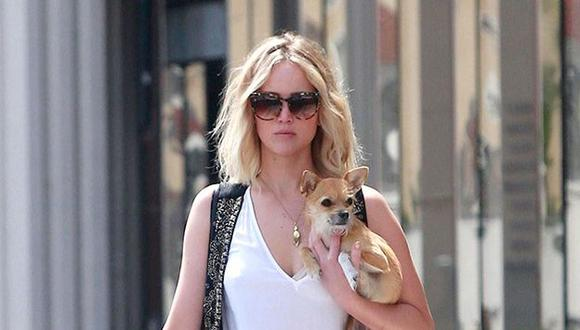 Jennifer Lawrence arremetió contra reportero que intentó acariciar a su perro (Getty Images)