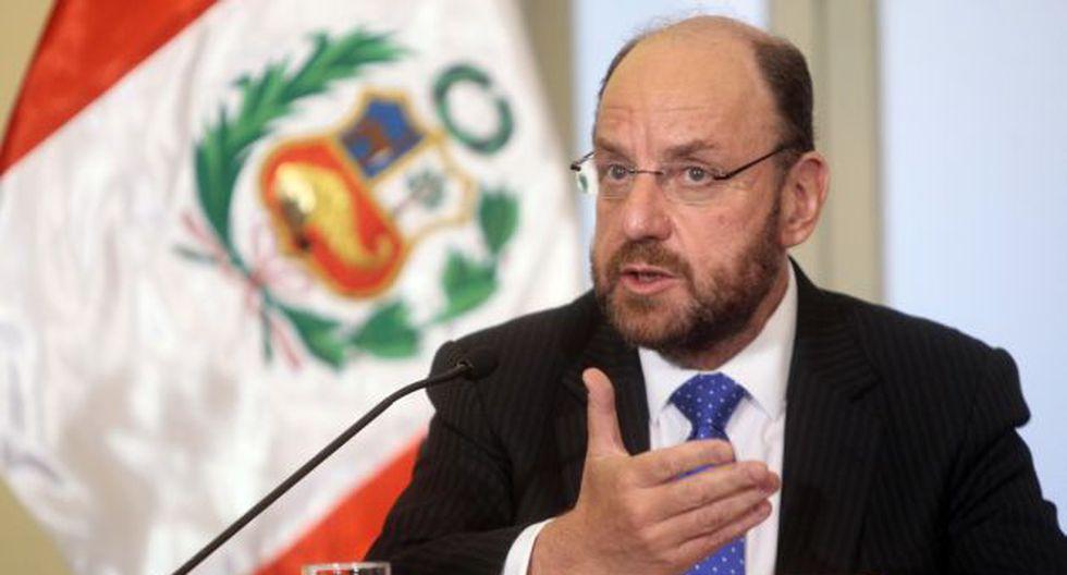 FIJA POSICIÓN. Moreno cumplió varias actividades en Lima. (David Vexelman)