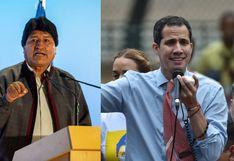 """Evo Morales calificó a Juan Guaidó de ser como un """"virrey colonial"""""""