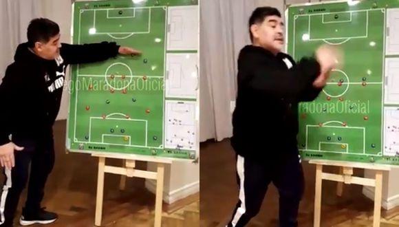 'El Diego' actualmente es presidente de un club de fútbol bielorruso. Anteriormente fue entrenador delAl-Fujairah FC de Emiratos Árabes.(Foto: Captura/Facebook Diego Maradona)